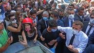 لبنانیهای در حضور مکرون شعار «ملت خواهان سرنگونی رژیم است» را سر دادند