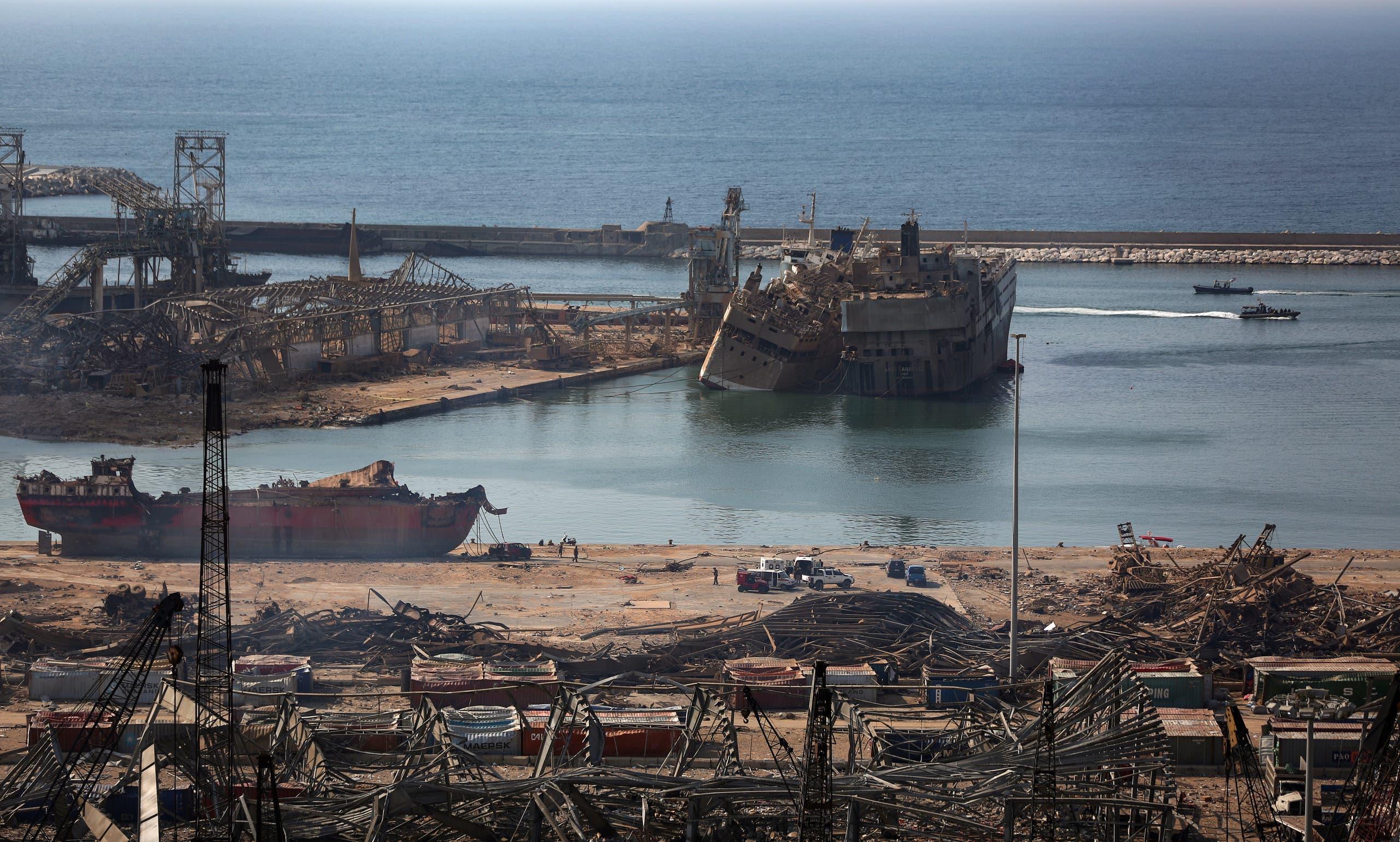 من ميناء بيروت يوم 6 أغسطس