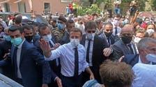 فرانسیسی صدرکا تباہ حال بیروت کا دورہ، لبنانیوں کا قیادت ہٹانے کے لیے مدد دینے کا مطالبہ