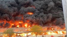 الإمارات تسيطر على حريق ضخم  في عجمان.. ولا إصابات