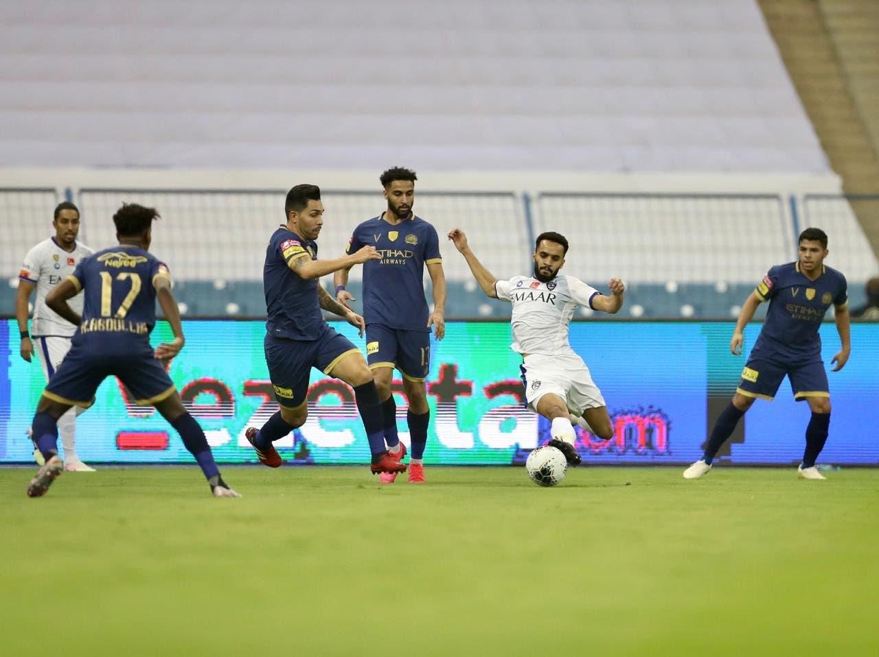 مباراة سابقة بين النصر والهلال