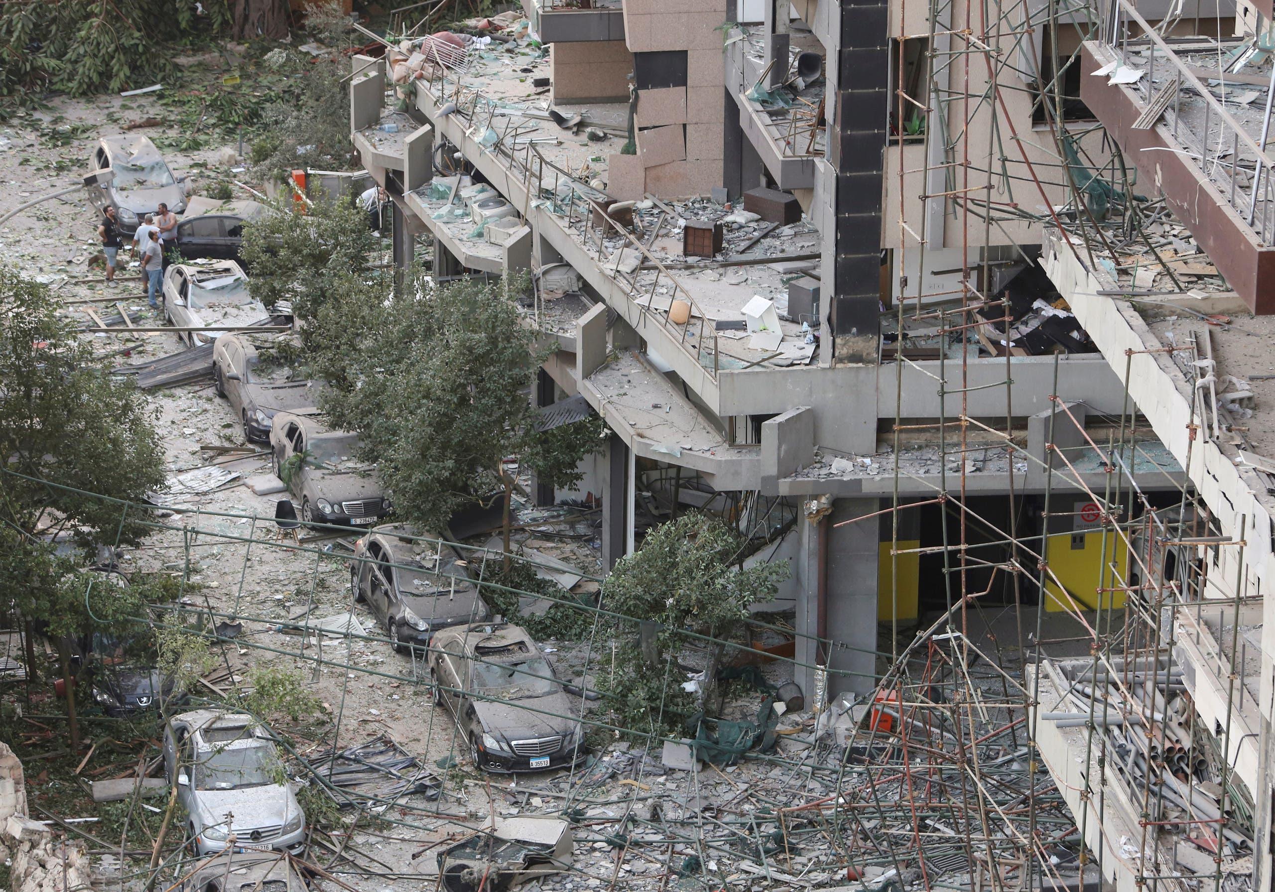الدمار الذي خلفه الانفجار