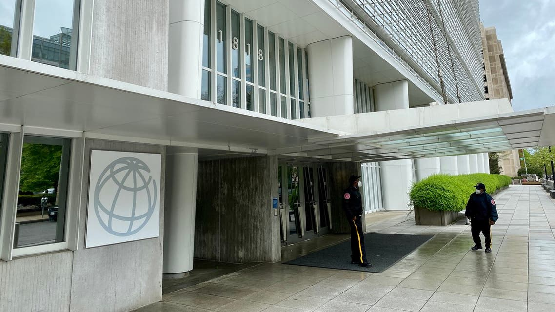 The World Bank Group building is viewed on an empty street in Washington, DC on April 13, 2020, during the virtual IMF, World Bank Spring 2020 meetings. The IMF published Global Financial Stability Report, with virtual presser by Financial Counsellor Tobias Adrian.