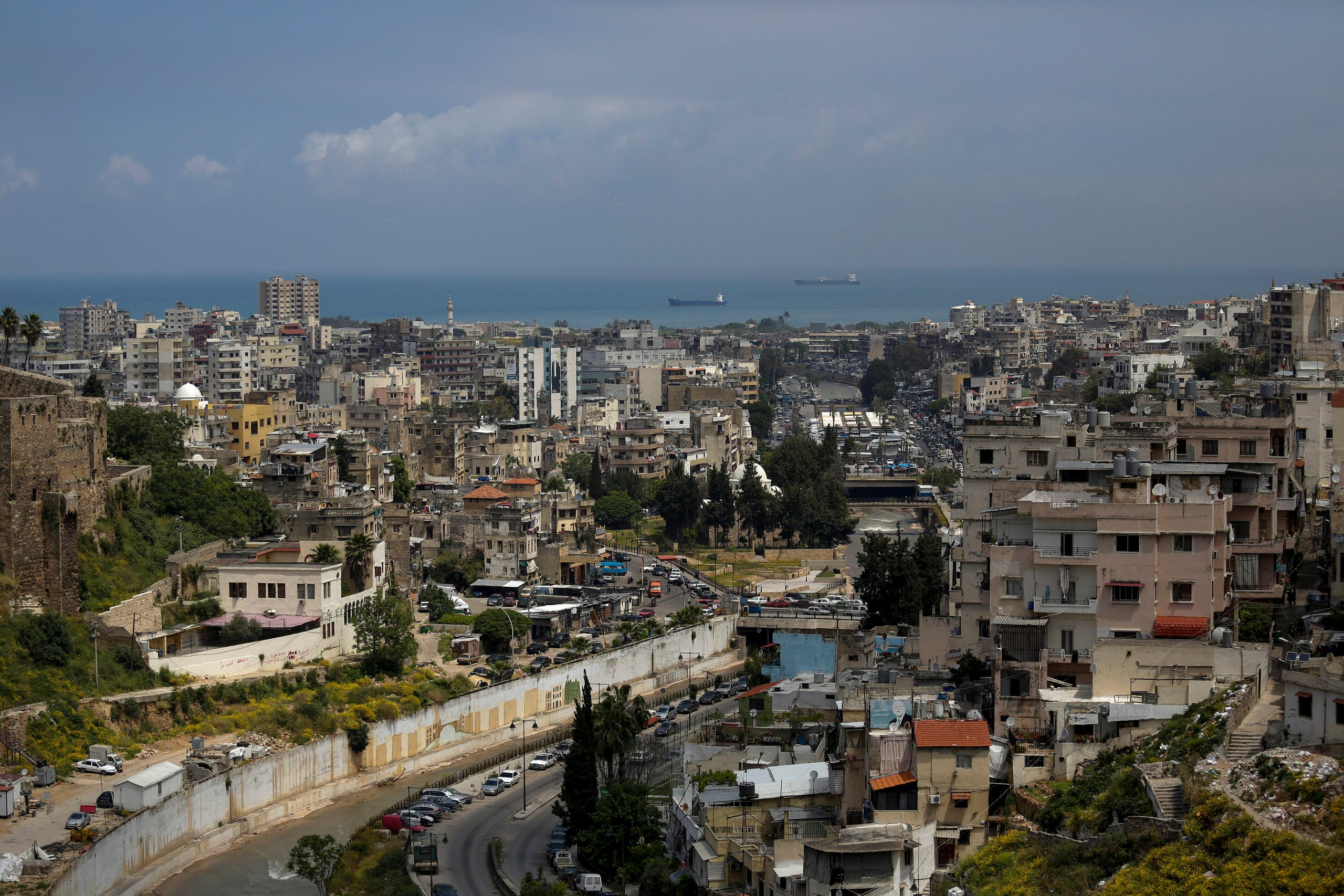This Tuesday, May 5, 2020 photo, shows a partial view of the northern city of Tripoli, Lebanon. (AP)