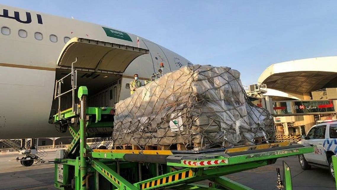 KSrelief Sends the First Saudi Airlift Planes to Lebanon to Help the Victims of the Port Explosion in Beirut. (SPA)
