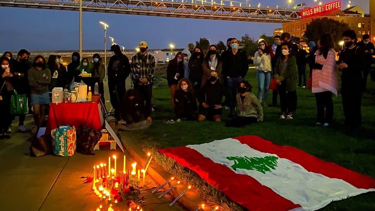 Beirut explosion: Lebanese-Americans hold vigil in San Francisco for blast victims thumbnail