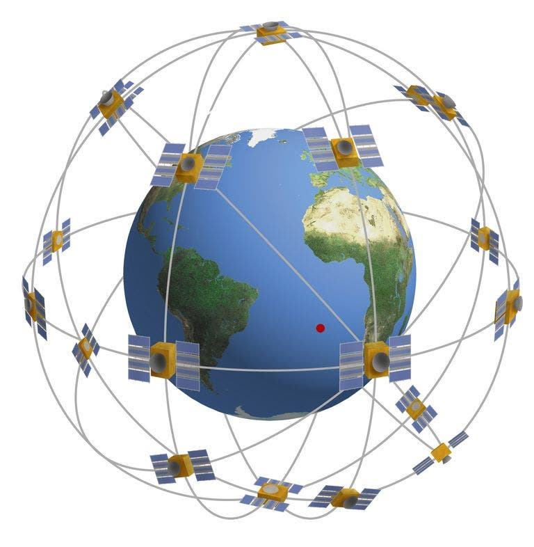 أقمار صناعية تدور حول الأرض