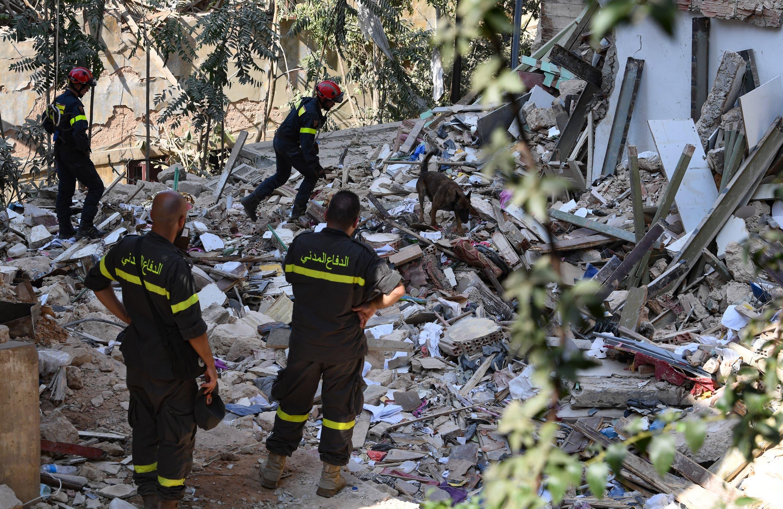 من حي الجميزة في بيروت يوم 6 أغسطس