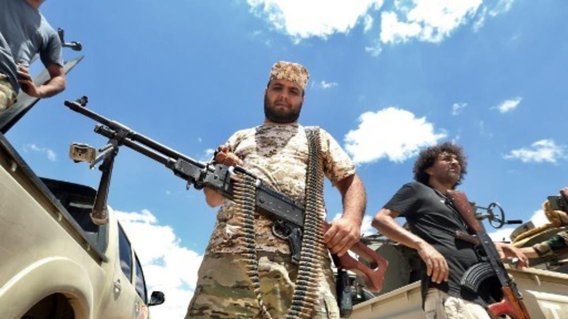 عناصر موالية لقوات الوفاق في ليبيا - فرانس برس