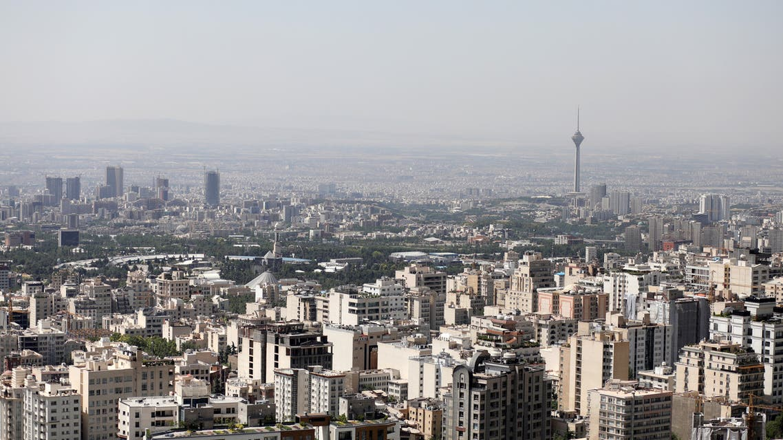 A general view of Tehran city, in Tehran, Iran June 12, 2020. (West Asia News Agency via Reuters)