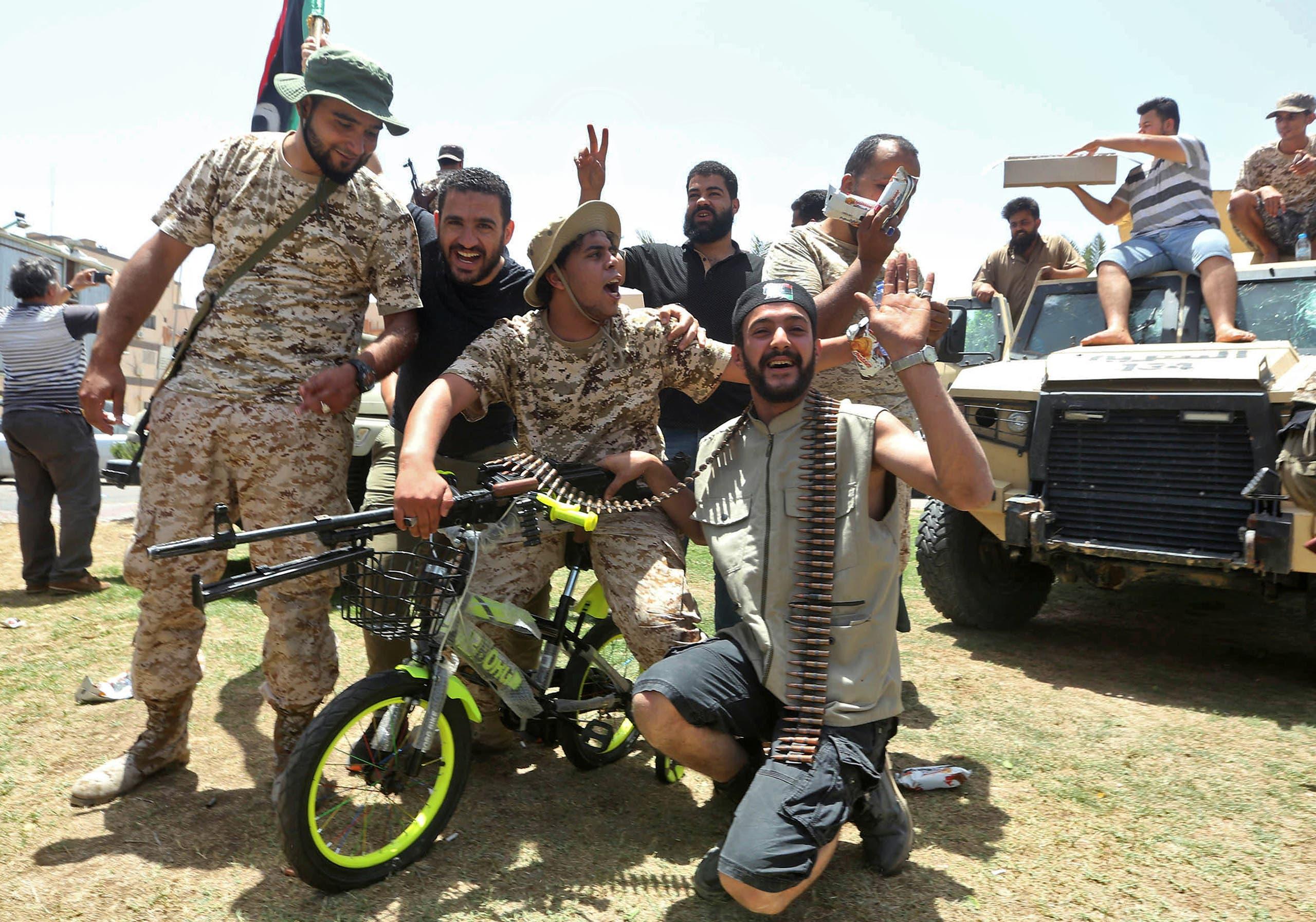 """عناصر موالية لقوات الوفاق الليبية """"أرشيفية"""""""