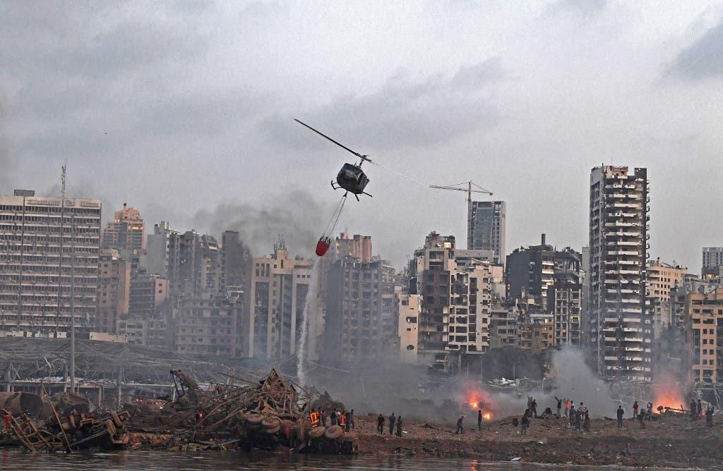 من موقع انفجار مرفأ بيروت
