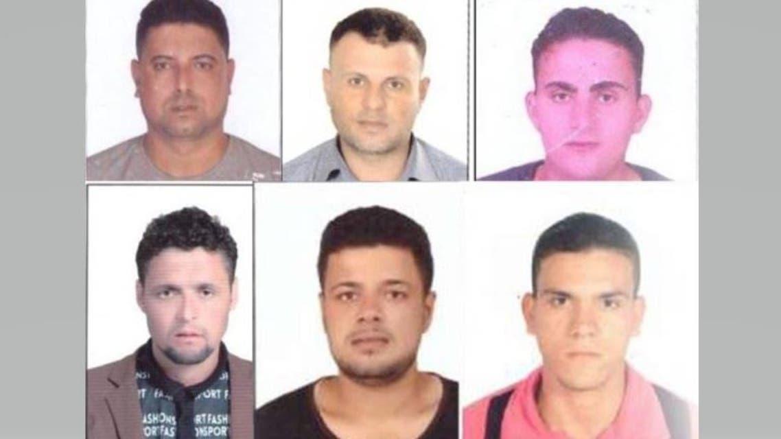 بعض من الصيادين المصريين المحتجزين في ليبيا