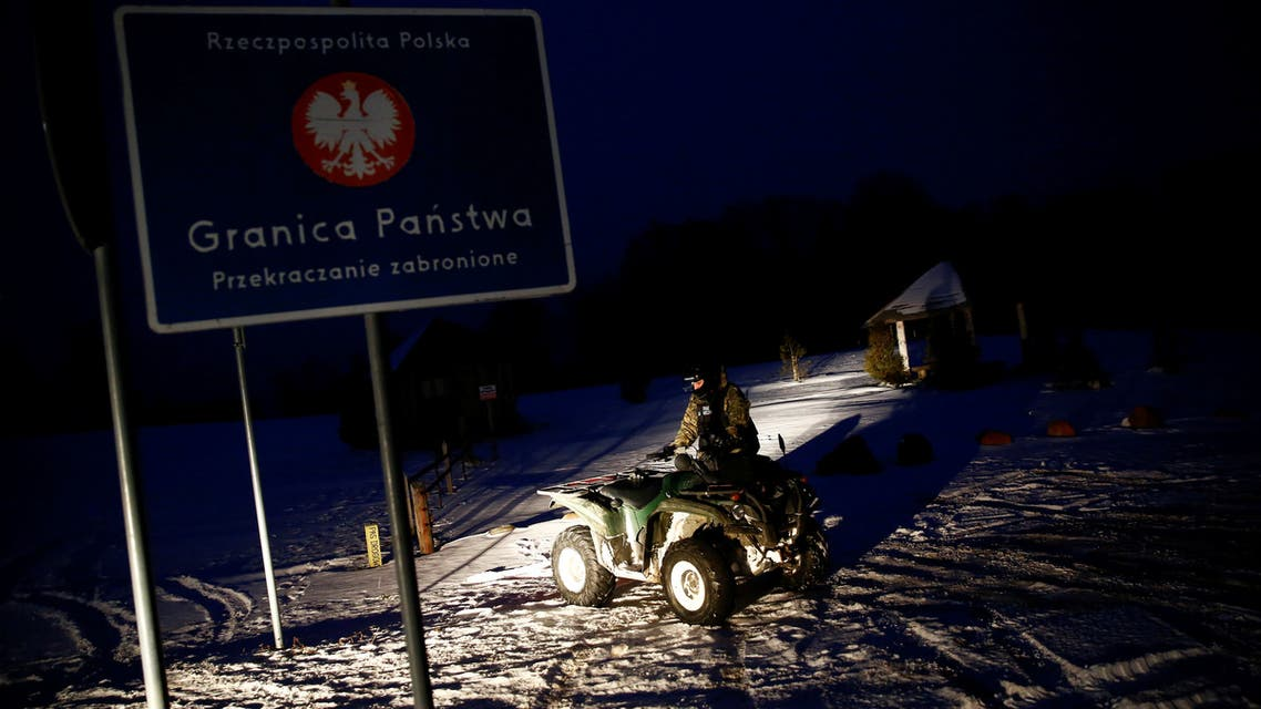 A Polish border guard rides a quad as he prepares to patrol near the border junction points of Poland, Russia and Lithuania. (File photo: Reuters)