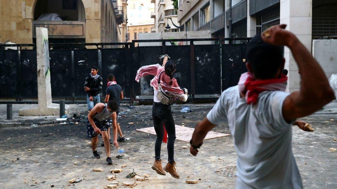 تظاهرات وسط بيروت - رويترز