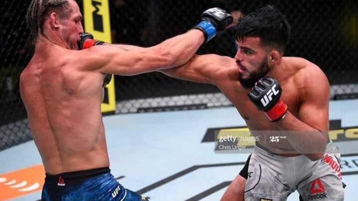 ورزشکار افغان حریف آمریکایی خود را شکست داد