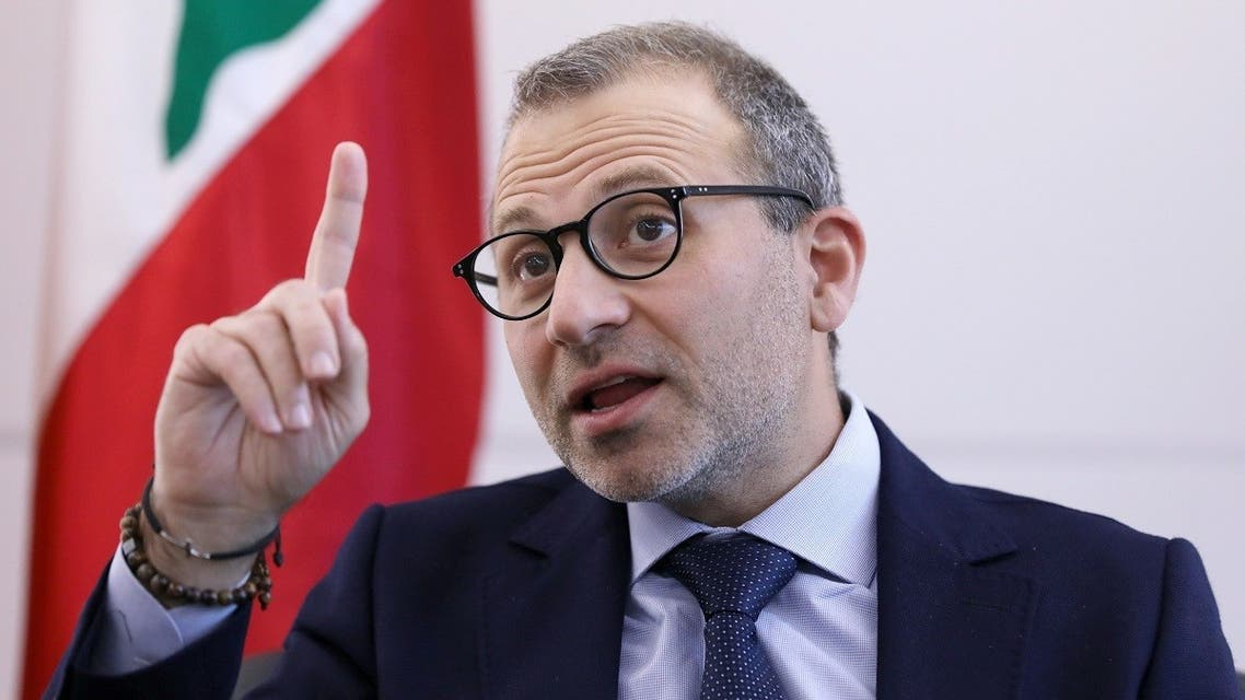 Gebran Bassil, a Lebanese politician and head of the Free Patriotic movement, talks during an interview with Reuters in Sin-el-fil. (Reuters)