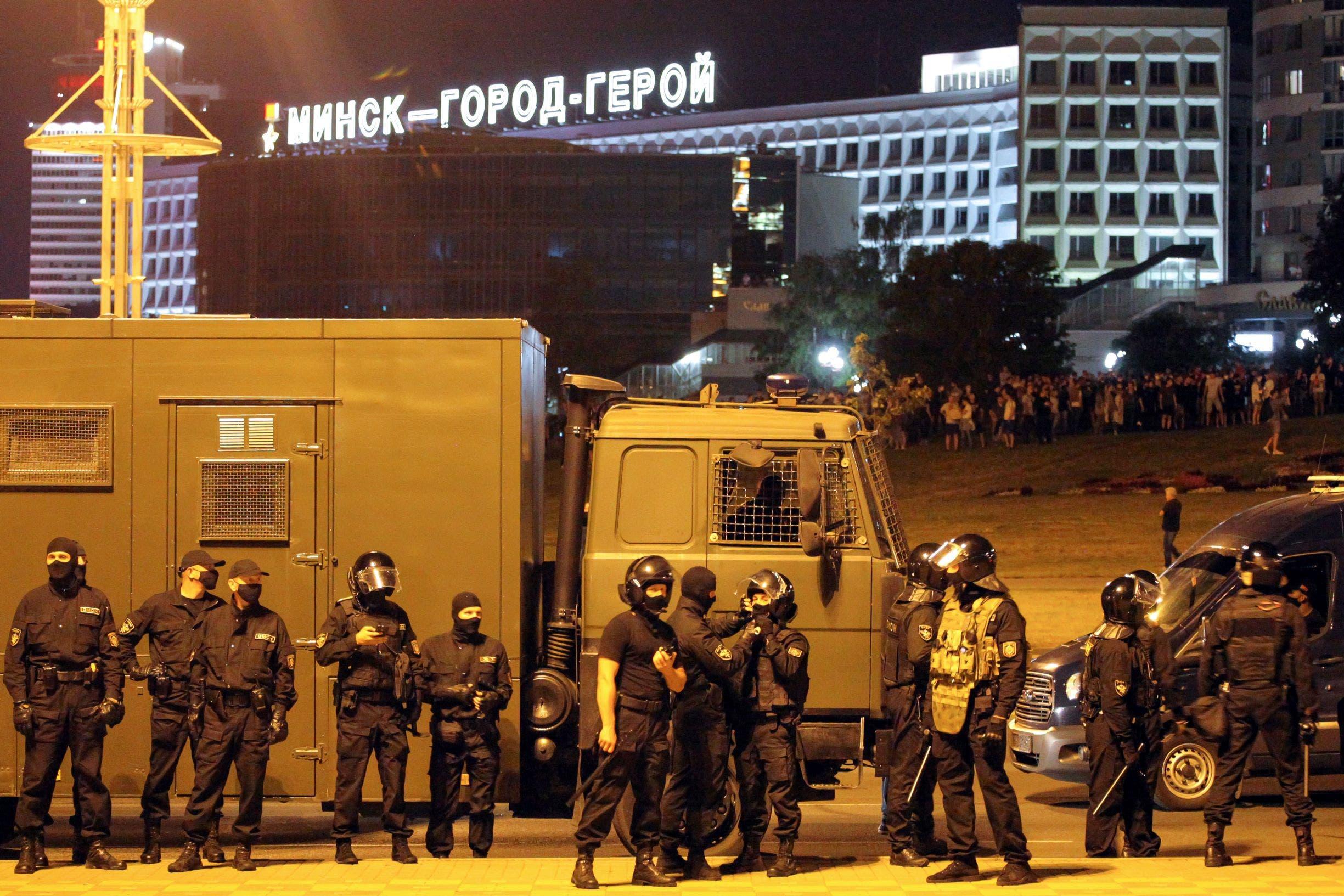 من احتجاجات بيلاروسيا - فرانس برس