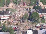 انفجار قوي بمدينة بالتيمور الأميركية دمر عدداً من المنازل