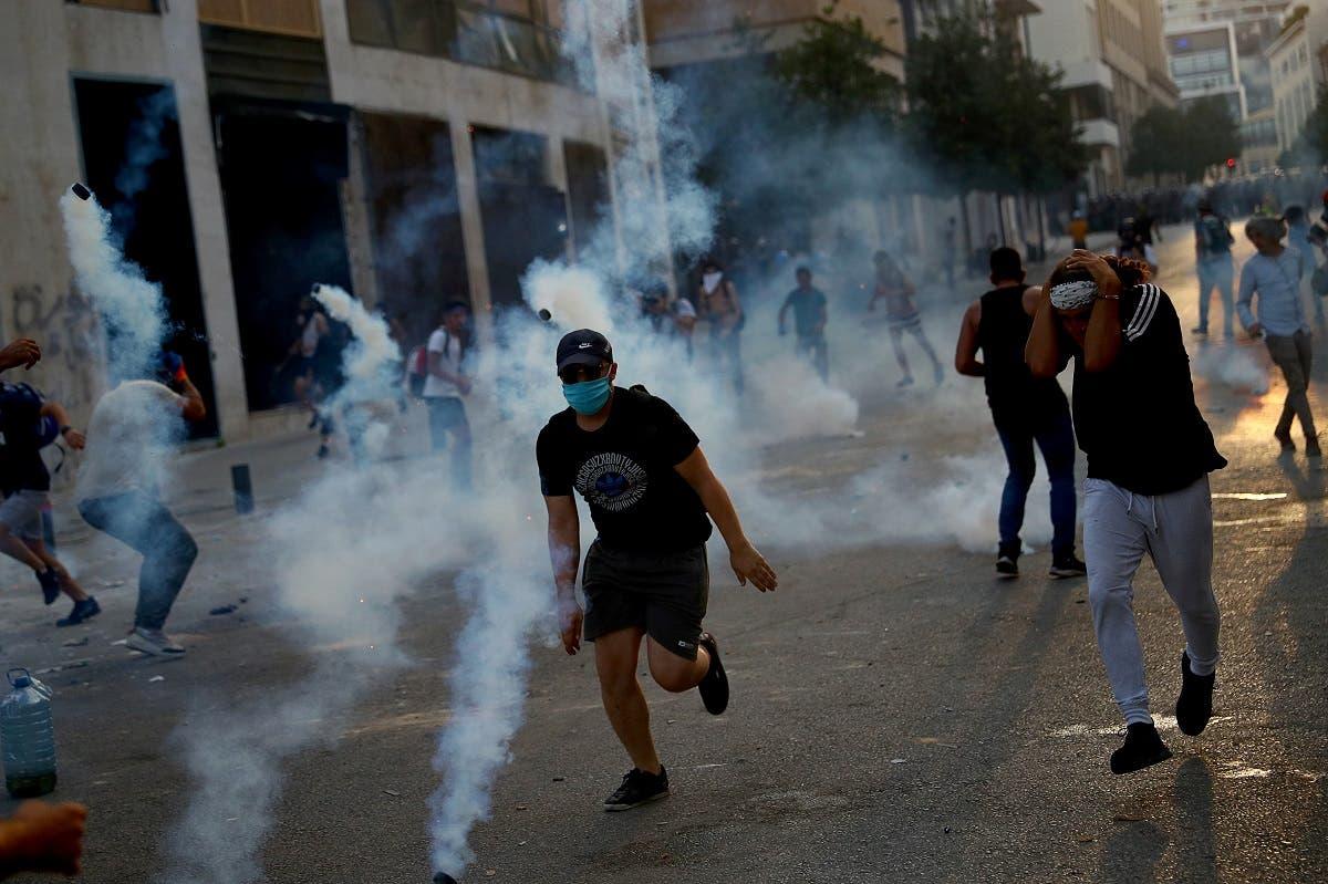 من الاحتجاجات التي تلت الانفجار