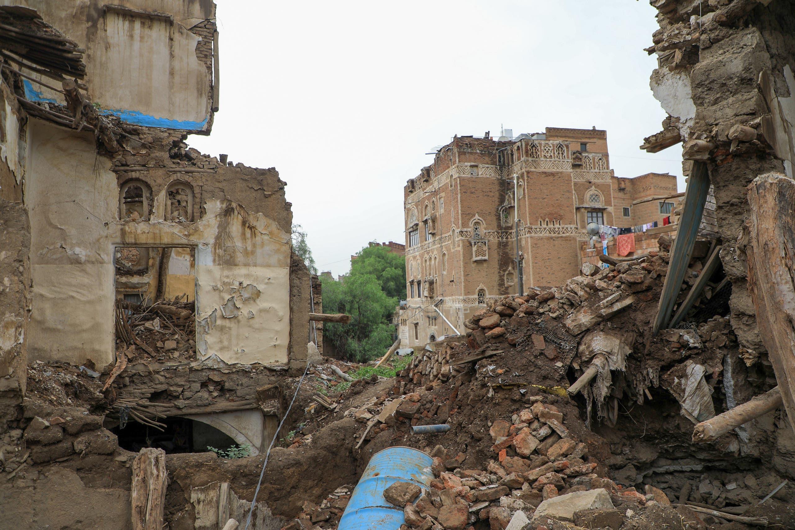 أضرار السيول في صنعاء