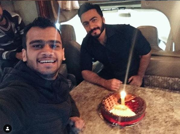 مصطفى حفناوي مع تامر حسني