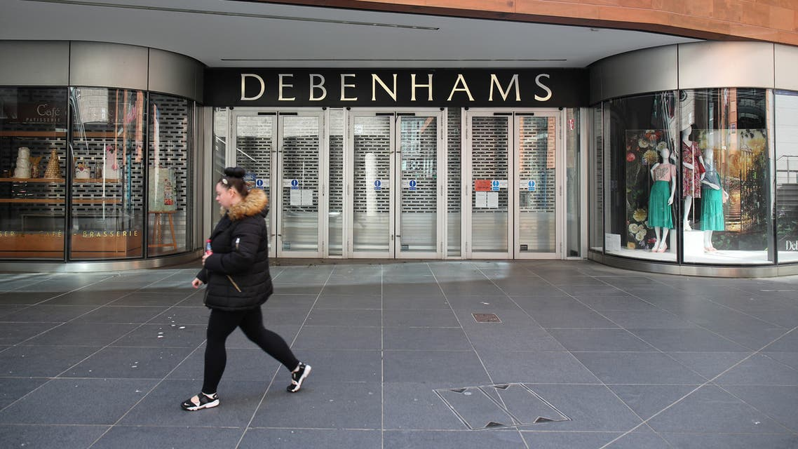 A closed Debenhams store in Liverpool, UK, amid the coronavirus pandemic. (File photo, Reuters)