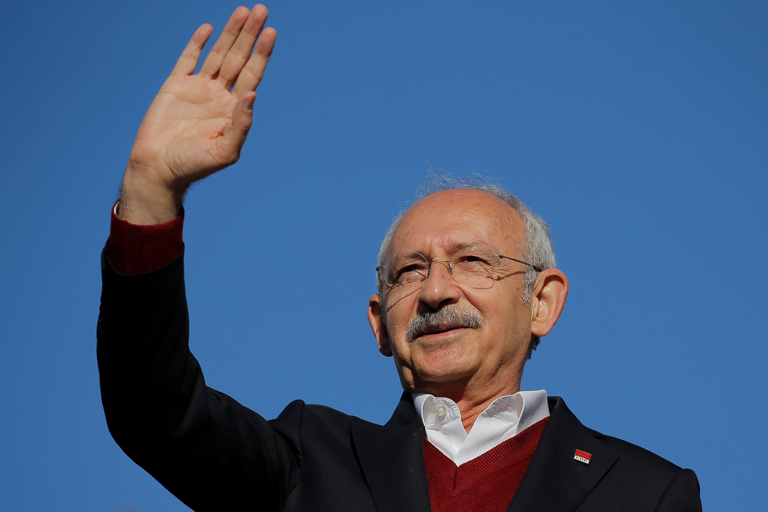 زعيم المعارضة التركية ورئيس حزب الشعب الجمهوري كمال كيليتشدار أوغلو