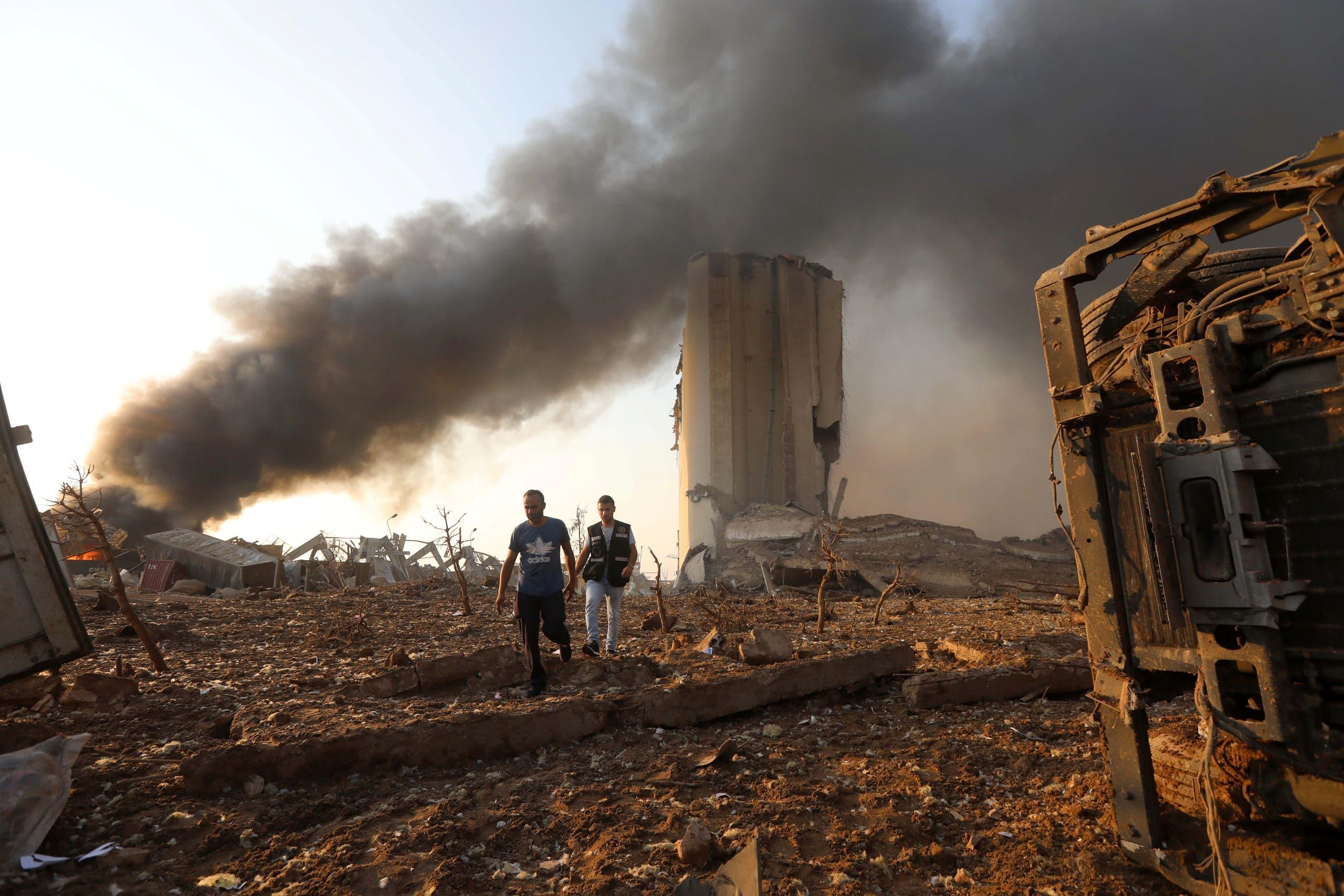من بيروت يوم 4 أغسطس (رويترز)