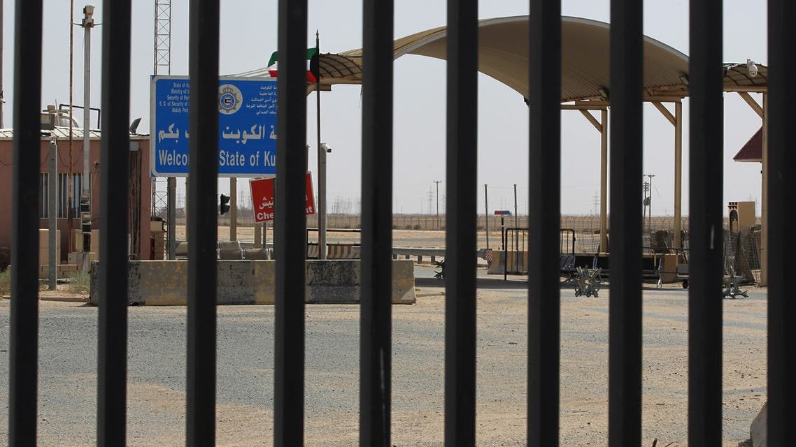 A picture taken during the visit of Iraqi prime minister to the southern city of Basra shows the Safwan border crossing with Kuwait, on July 15, 2020.