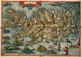تصور قديم لخريطة آيسلندا