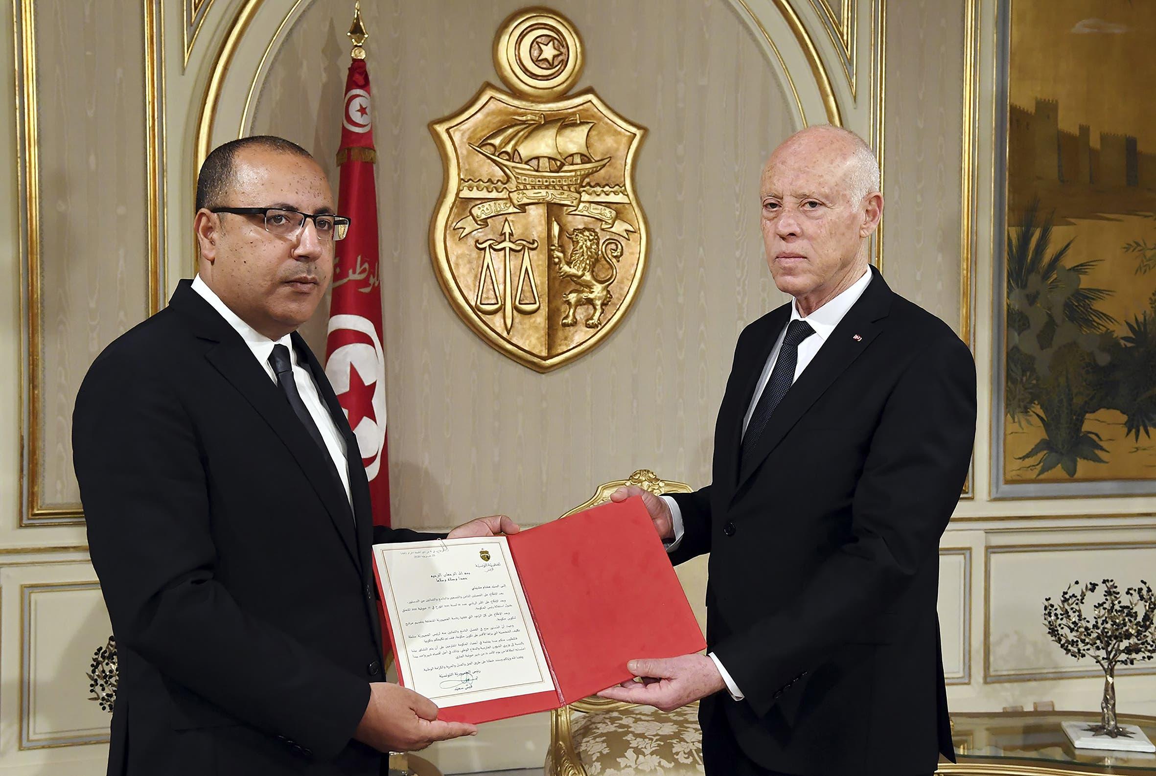قيس سعيد وهشام المشيشي (أرشيفية- فرانس برس )