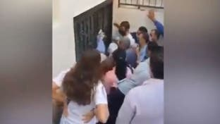 """ممرضة بنظام الأسد تصرخ: """"يا عالم بيناتكن مصابين"""""""