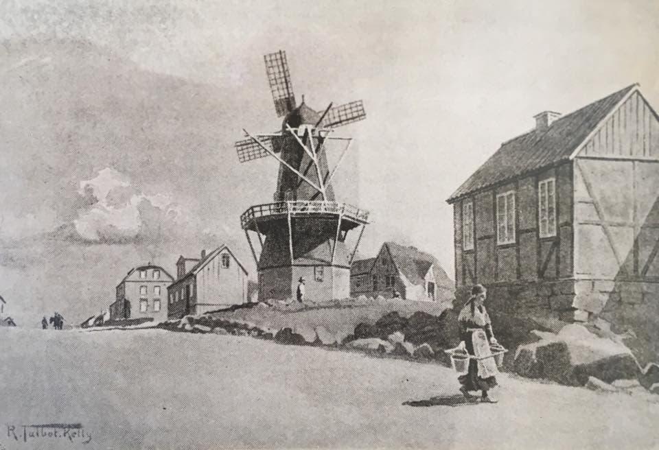 لوحة تجسد إحدى مناطق ريكيافيك أواخر القرن 19