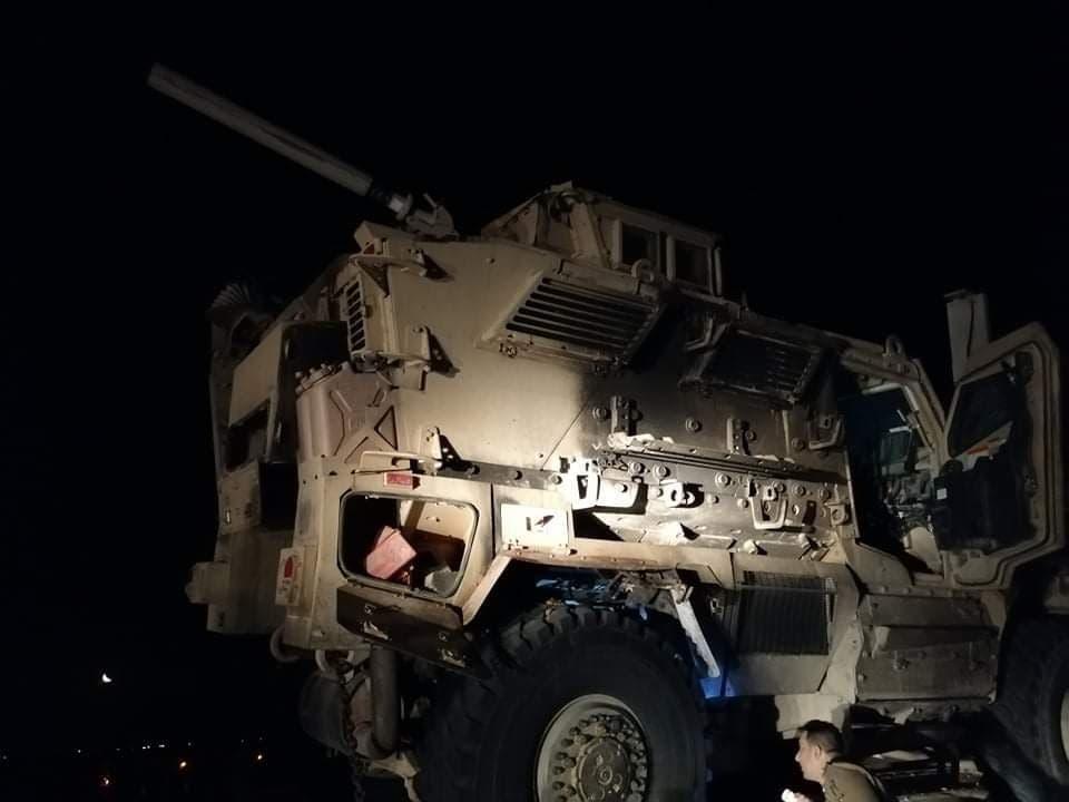 صور استهداف رتل تابع للجيش الأميركي بعبوة ناسفة في العراق