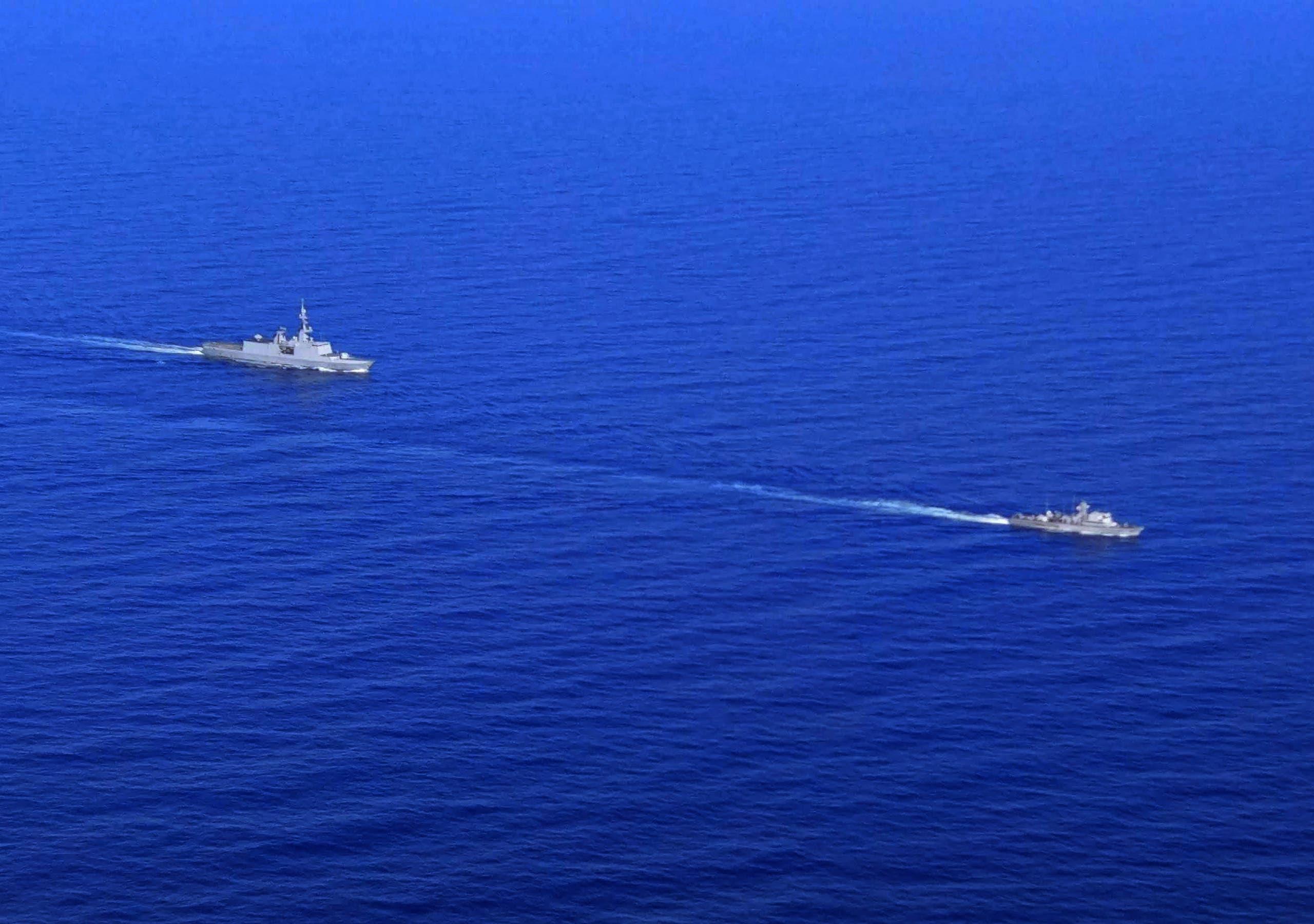 تدريب عسكري مشترك العام الماضي بين فرنسا وقبرص في المتوسط