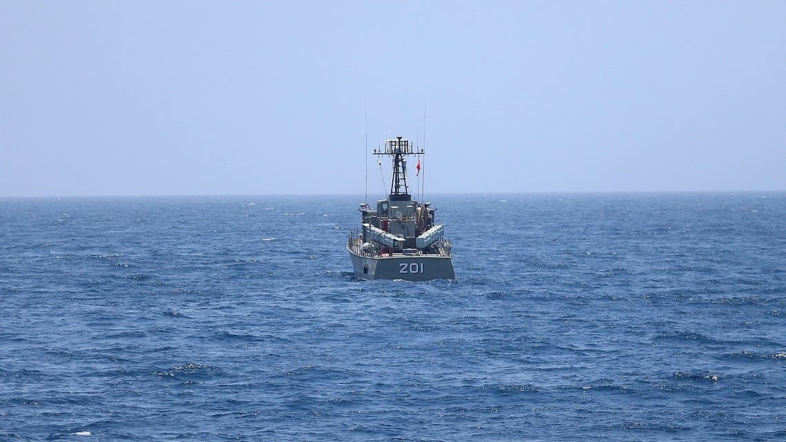 2020-06-18An Iranian navy vessel is seen in the northern Indian Ocean and near the entrance to the Gulf, Iran, June 17, 2020. (Reuters)T000000Z_1877176582_RC2PBH9GTW8Q_RTRMADP_3_IRAN-MISSILES-TEST