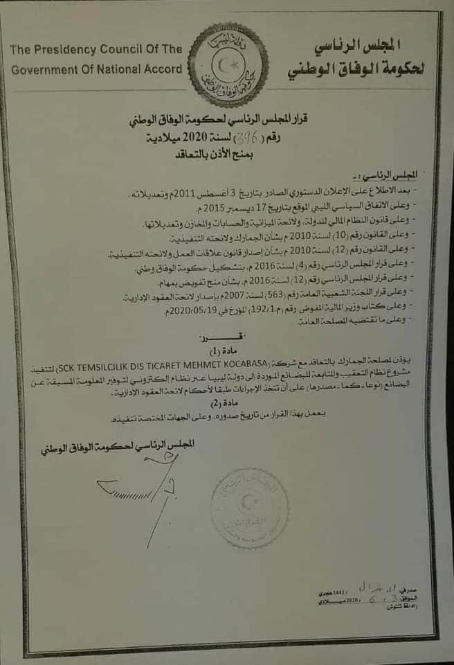 قرار مجلس الوفاق