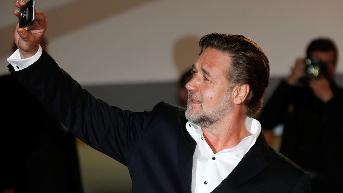 Russell Crowe takes a selfie at the 69th Cannes Film Festival in Cannes on May 15, 2016. (Reuters)