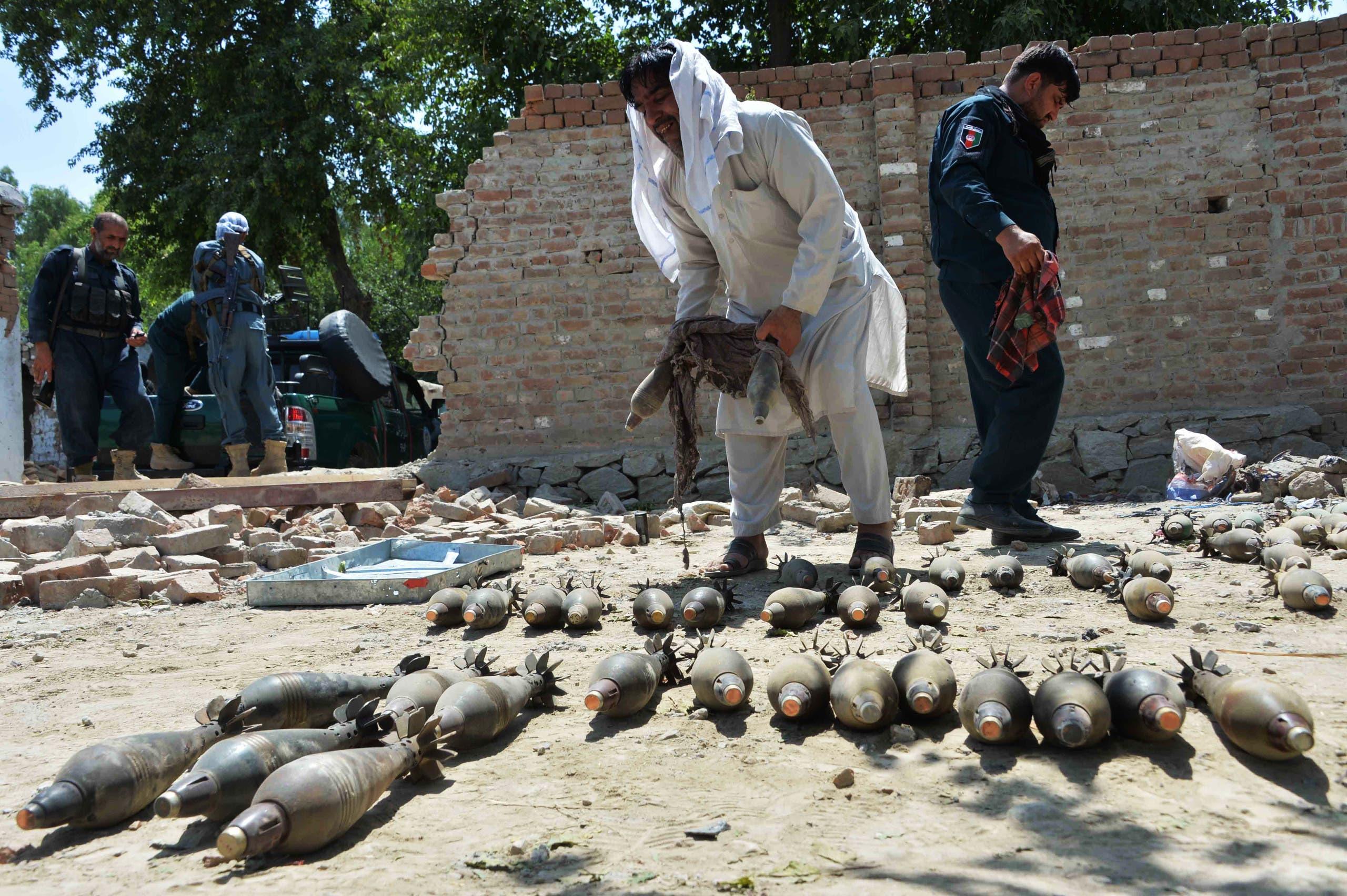أسلحة لداعش تمت مصادرتها في أفغانستان