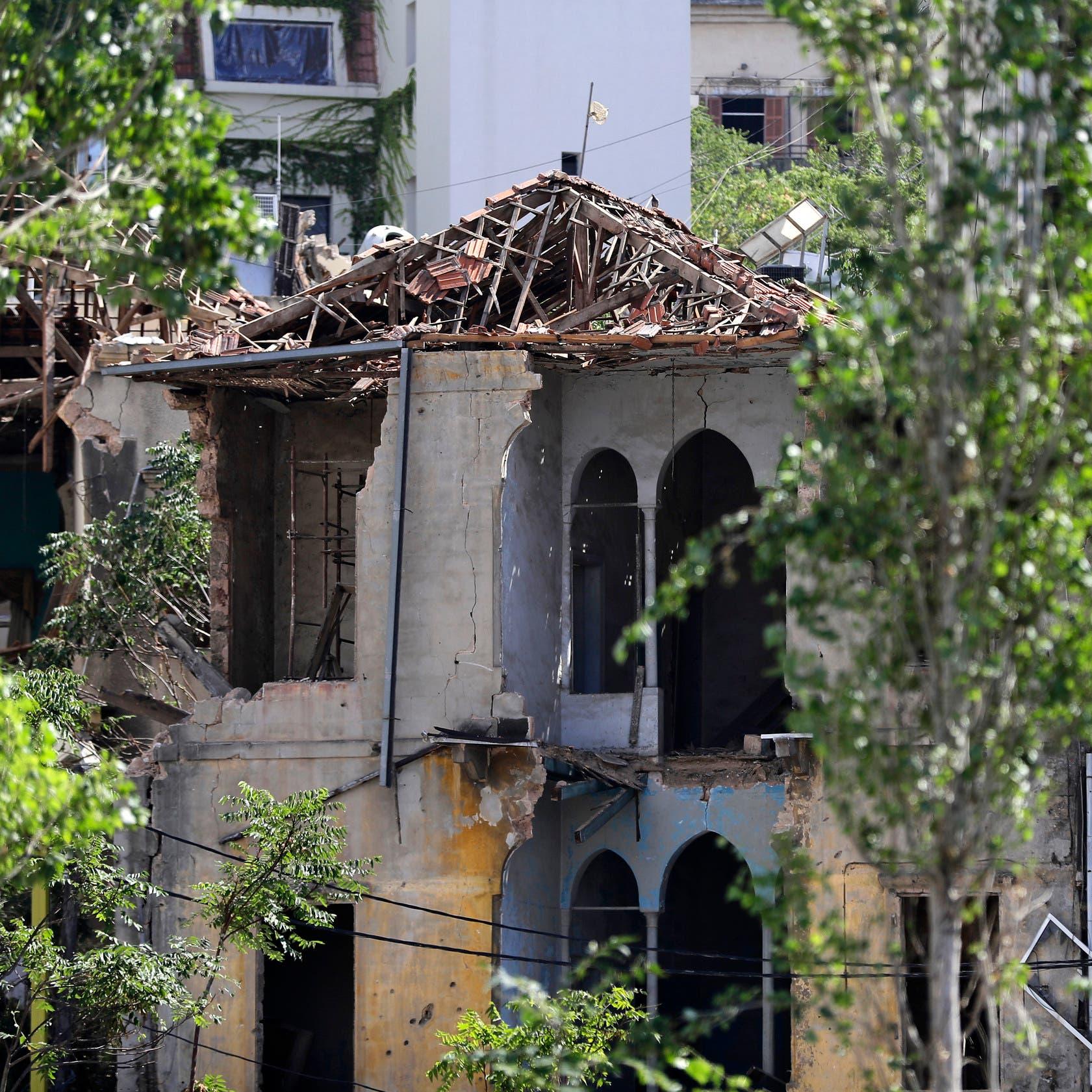 60 مبنى تراثياً في بيروت مهددة بالانهيار بسبب الانفجار