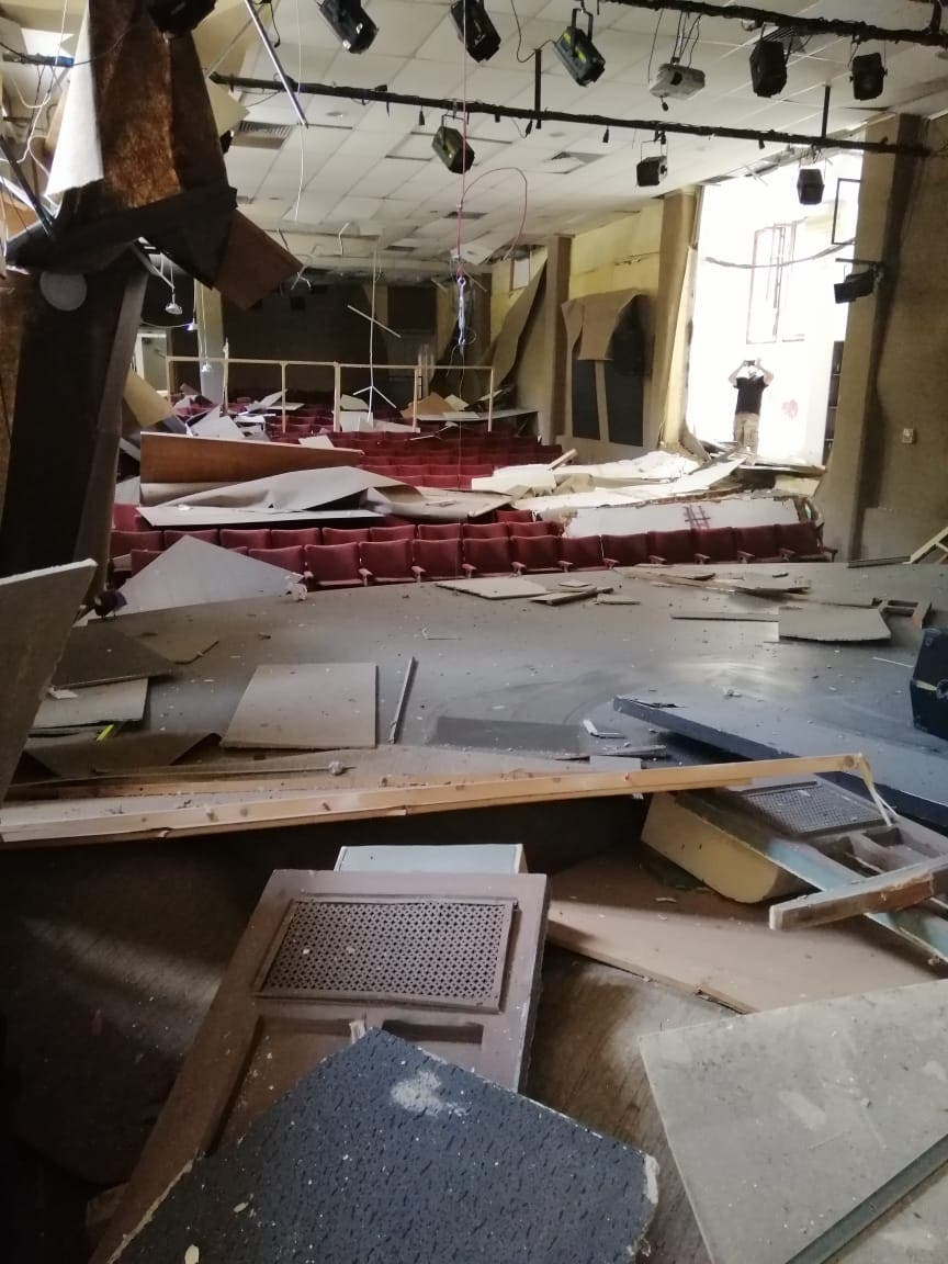 Theatre Gemmayze is show the day after the blast at the Port of Beirut. (Supplied.)