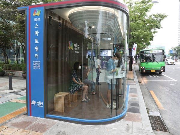 """كوريا الجنوبية.. محطات حافلات """"ذكية"""" لمكافحة كورونا"""