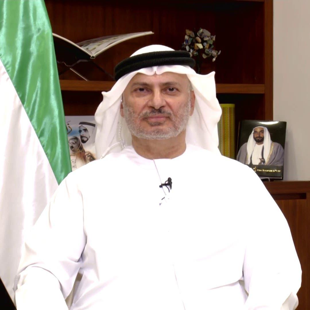قرقاش: السلام مع إسرائيل يأتي في سياق قرارات الإمارات الاستراتيجية