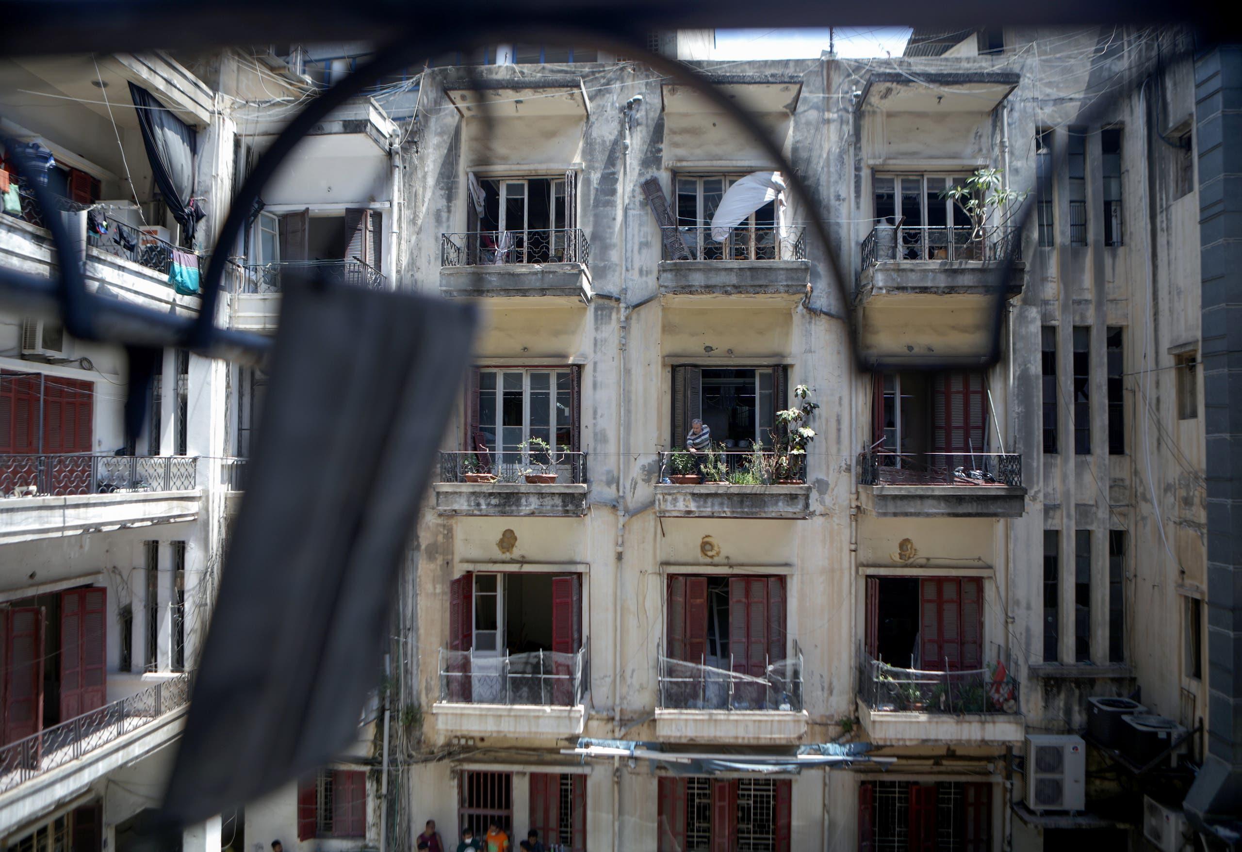 منازل متضررة في بيروت
