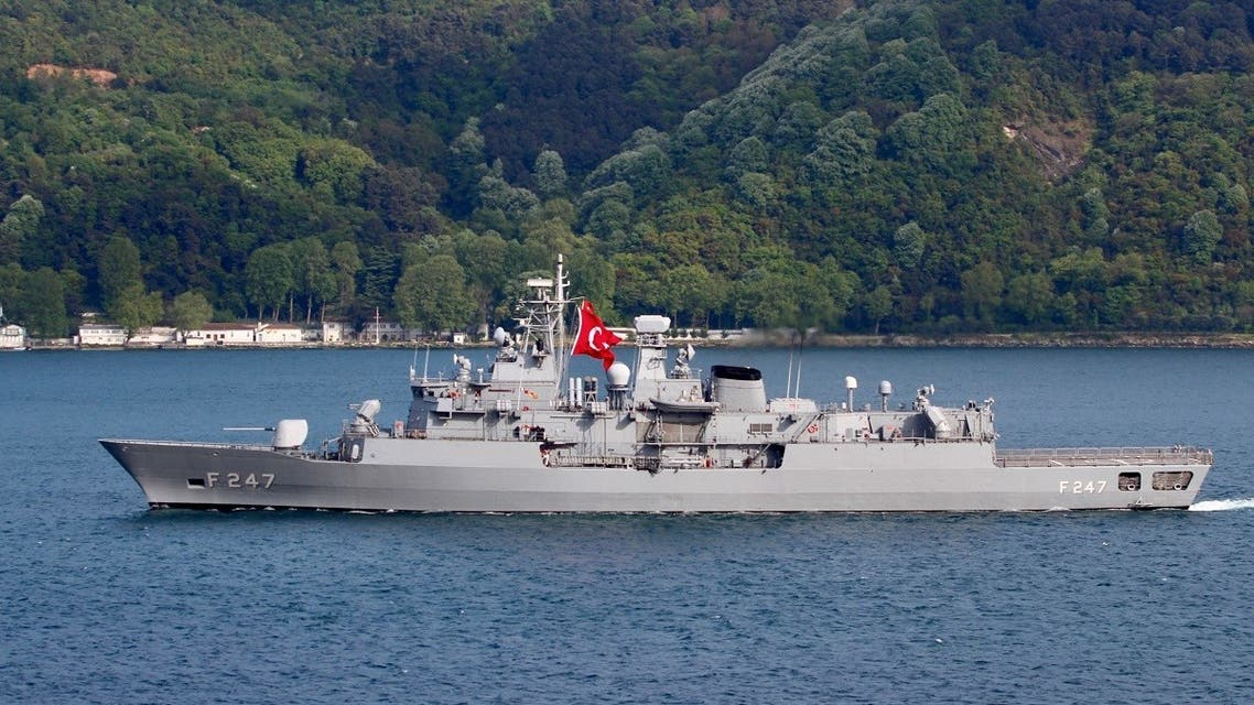 Turkish Navy frigate TCG Kemal Reis (F-247) is pictured in the Bosphorus strait in Istanbul, Turkey May 13, 2019. (Reuters)