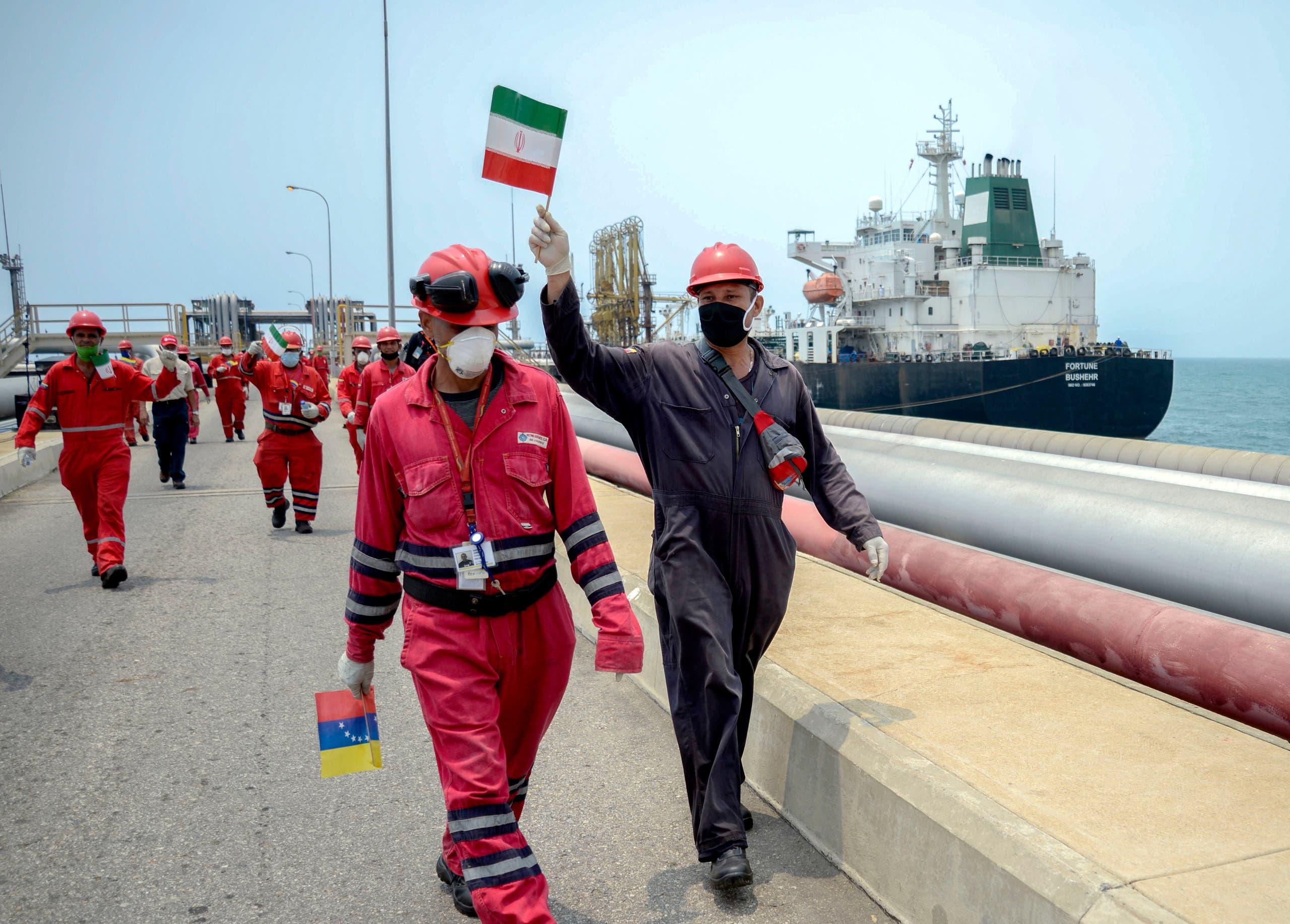 وصول سفينة إيرانية إلى فنزيولا محملة بالنفط في مايو الماضي