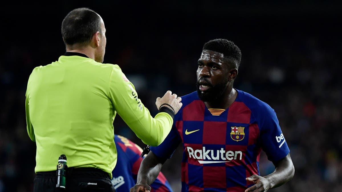 """برشلونة يعلن إصابة أومتيتي بـ """"كورونا"""""""