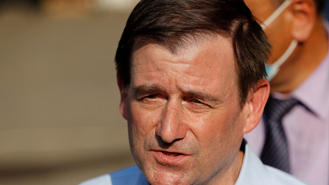 US Under Secretary of State for Political Affairs David Hale speaks to journalists in Beirut, Aug. 13, 2020. (Reuters)