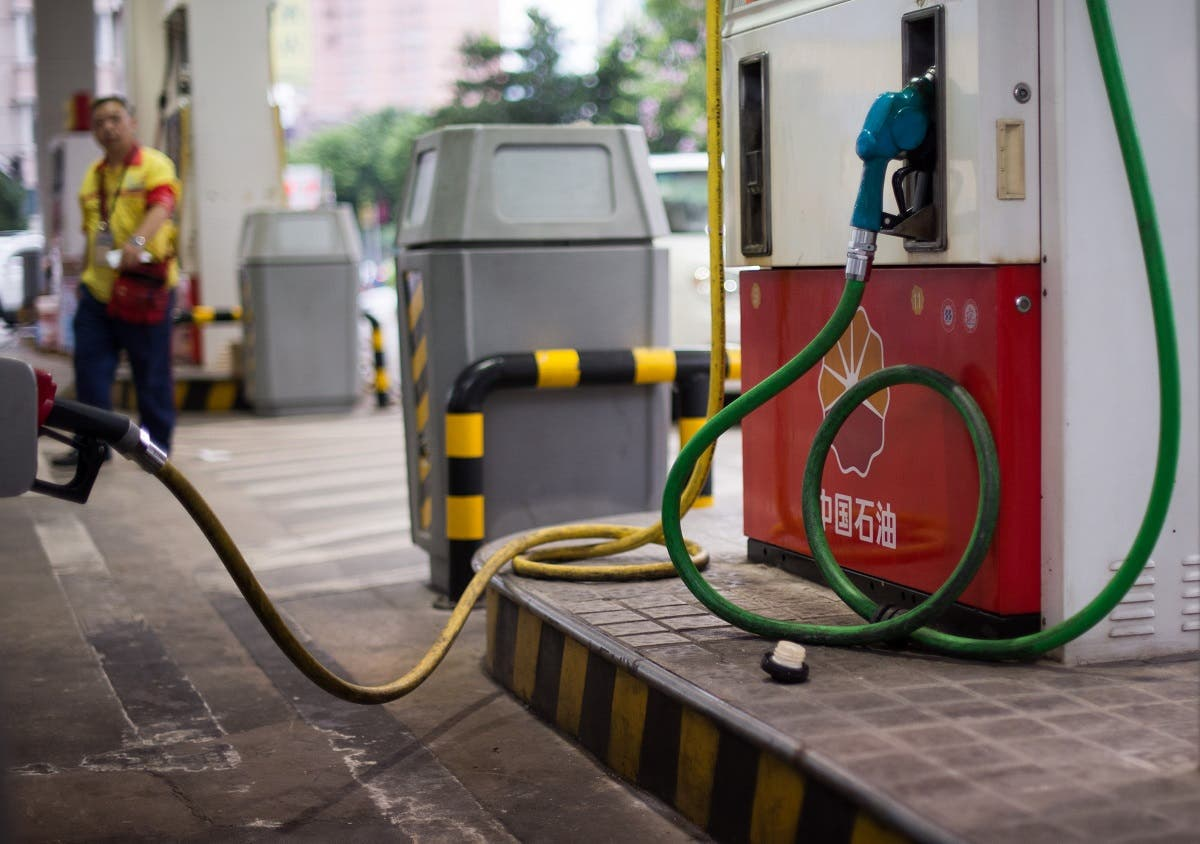 This file photo shows a petrol pump at a PetroChina petrol station in Shanghai. (AFP)